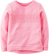 Carter's Long-Sleeve Pink Knit Fashion Top - Girls 4-6x