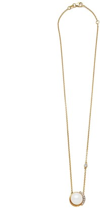 Joie Digiovanni Gold Floating Diamond Pearl Pendant Necklace