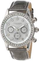 Akribos XXIV Women's AK556GY Multi-Function Dazzling Strap Watch