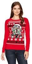 Hybrid Apparel Women's Star Wars R2d2 Santa Holiday Sweater