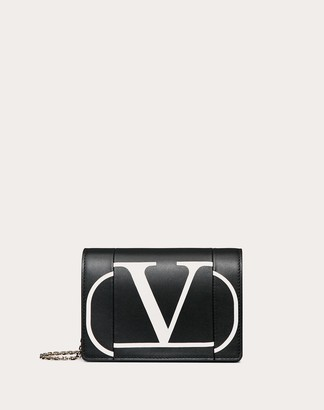 Valentino Vlogo Inlay Chain Pouch Women Black OneSize