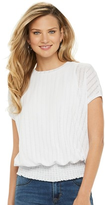 Apt. 9 Women's Smocked Hem Dolman Sleeve Top
