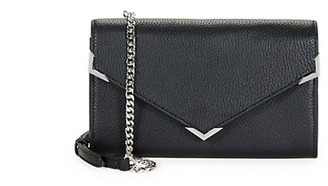 Saks Fifth Avenue Pebbled Leather Envelope Crossbody Bag