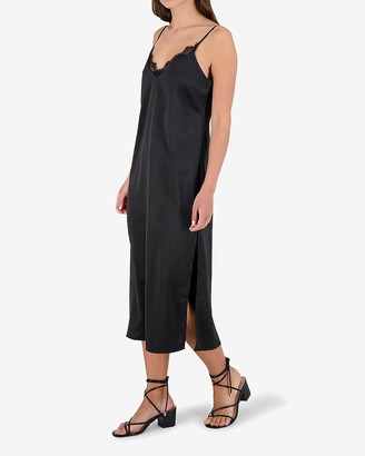 Express Bb Dakota Lace V-Neck Slip Dress