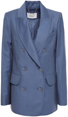 Zimmermann Sabotage Double-breasted Wool Blazer