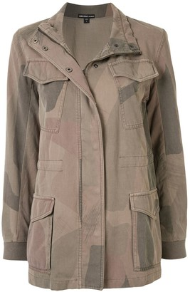 James Perse Fatigue camouflage print jacket