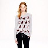J.Crew Jeweled llama sweater