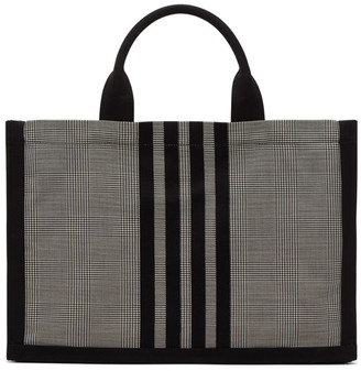 Thom Browne Black and White Squared Tote