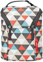 Bed Bath & Beyond Skip*Hop® Triangles Grab & Go Double Bottle Bag in Orange/Grey/Blue