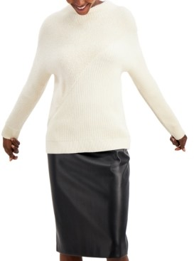 Alfani Eyelash Knit Ribbed Sweater, Created for Macy's