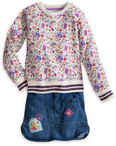 Disney Rapunzel Denim Skirt Set for Girls