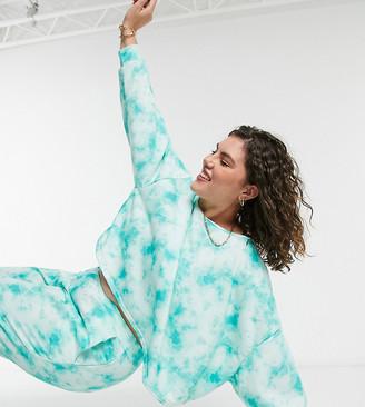 Simply Be co-ord sweatshirt in tie dye print