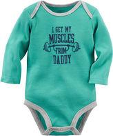 Carter's Long-Sleeve Turquoise Daddy Slogan Bodysuit - Baby Boys newborn-24m