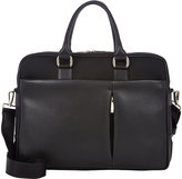 Barneys New York MEN'S SLIM BRIEFCASE-BLACK