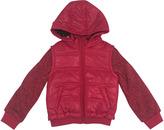 Urban Republic Melange Sleeves Hooded Puffer Jacket