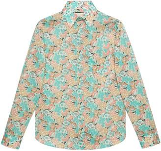 Gucci Liberty floral cotton shirt