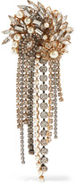 Erickson Beamon Hunger Gold-plated, Faux Pearl And Crystal Brooch - one size