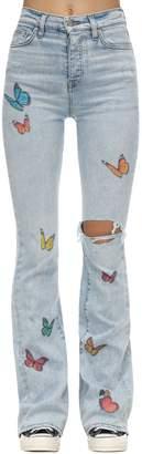 Amiri Broken Butterfly Flared Stretch Jeans