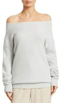 Vince Off-The-Shoulder Cashmere Top