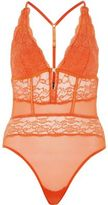 River Island Womens Red lace mesh bodysuit