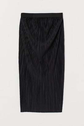 H&M MAMA Pleated Skirt - Black
