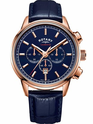 Rotary Men Analog Quartz Watch with Leather Strap GS05399/05