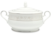 "Noritake Montvale Platinum"" Covered Vegetable Bowl"