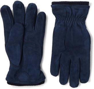 Hestra Nathan Suede Gloves - Men - Blue