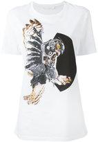 Neil Barrett mechanical owl print T-shirt - women - Cotton - XXS
