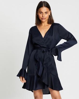 Atmos & Here Olivia Wrap Ruffle Mini Dress