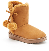Camel Pom Pom-Accent Emerson Boot