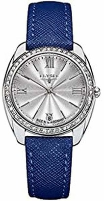 Elysee Unisex Adult Analogue Quartz Watch with Leather Strap 28600BLUE