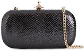 Vivienne Westwood clasp fastening clutch - women - Leather/metal - One Size