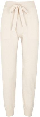 Lee Mathews Cream cotton-blend sweatpants
