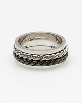 Le Château Silver Braided Ring