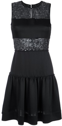 Gloria Coelho Sequin Panelled Dress