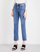A Gold E Agolde Riley straight cropped mid-rise jeans