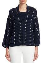 Emporio Armani Textured Wide-Sleeve Cardigan