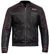 CHICAGO-FASHIONS Men's N7 Street Fighter Faux Leather Jacket