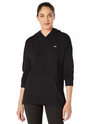 Lacoste Womens Sport Long Sleeve Oversized Hooded Fleece Sweatshirt Sweatshirt