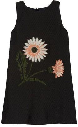 Oscar de la Renta Flower Jacquard Dress
