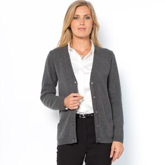 Anne Weyburn Wool Cardigan with Pockets