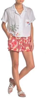 Onia Aleen Floral Print Shorts