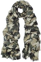 IvyFlair Soft Lightweight Unique Camouflage Patterned Scarf Shawl Wrap
