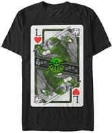 Fifth Sun Men's Tee Shirts BLACK - Legend of Zelda Black Link Playing Card Tee - Men