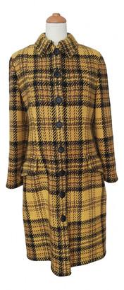 Valentino Yellow Wool Coats