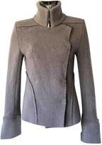 Ann Demeulemeester Grey Wool Jacket for Women