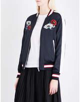 Izzue Reversible embroidered satin bomber jacket