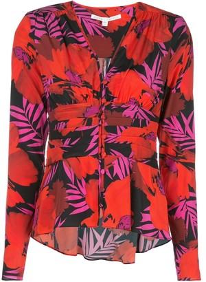 Veronica Beard Pevero Poppy-print shirt