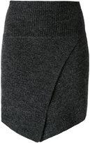 Etoile Isabel Marant asymmetric fitted mini skirt - women - Spandex/Elastane/Wool - 36